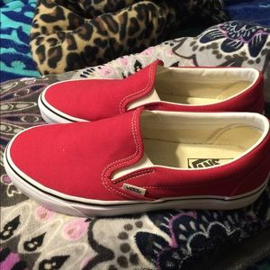 red slip on vans
